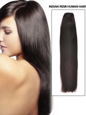 56Cm Extension Longue Lisse De Cheveux Naturels Avec Clips