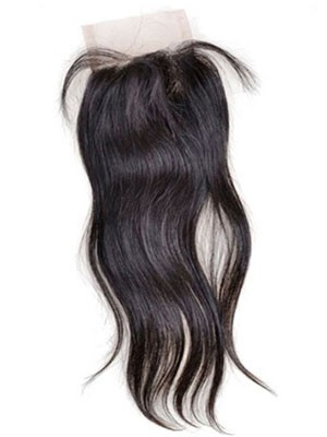Closure Cheveux Humains Part Libre Lisse Lace