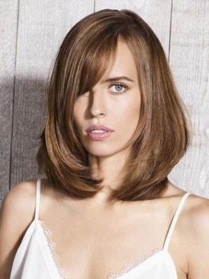 Perruque A La Mode Lisse Lace Front Cheveux Naturels