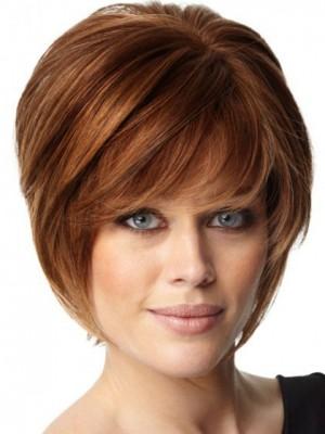 Perruque Courte Douce Multicouche Capless De Cheveux Naturels