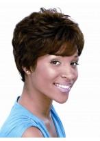 Perruque Afro-Américaine Synthétique Ondulée Courte
