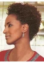 Perruque Courte De 100% Cheveux Naturels A La Mode