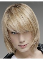 Perruque Classique Lisse Lace Front De Cheveux Naturels