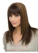 Perruque Chic Capless Longue Lisse De Cheveux Naturels