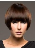 Perruque Charmante Courte Lisse Capless De Cheveux Naturels