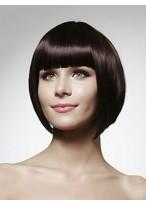 Perruque Lisse Courte De Style Bob Et De Cheveux Naturels