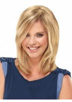 Perruque Capless Blonde Lisse De Cheveux Naturels