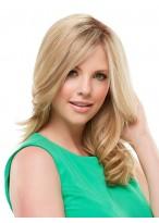 Perruque Blonde Ondulée Lace Front De Cheveux Naturels