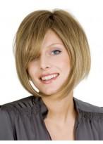 Perruque Lisse De Style Bob De Cheveux Naturels