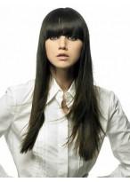 Perruque Cheveux Naturels Longue Capless Lisse Belle Apparence