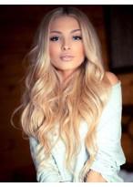 Perruque Cheveux Naturels Lace Front Ondulée Belle Apparence