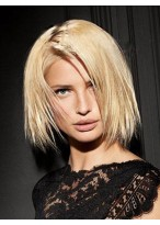 Perruque Charmante Capless Lisse Cheveux Naturels