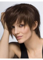 Perruque Attractive Lisse Capless Cheveux Humains