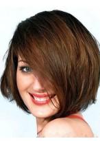 Perruque Charmante Mi-Longue Longueur Cheveux Natureles Capless