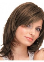 Perruque Séduisante Cheveux Naturels Lisse Capless