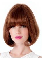 Perruque Classique Lisse De Style Bob Et De Cheveux Naturels