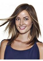 Perruque Charmante Lisse Lace Front Cheveux Humains