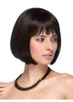 Perruque En Vogue Lisse Cheveux Humains Lace Front