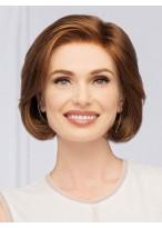 Perruque A La Mode Lisse Cheveux Humains Lace Front
