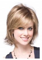 Perruque Synthétique Blonde Mi-Longue