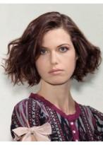 Perruque En Vogue Ondulée Lace Front Synthétique