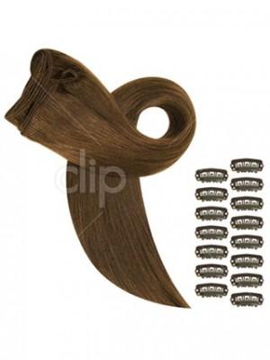 Extensions Lisses De Cheveux Naturelsà Clips