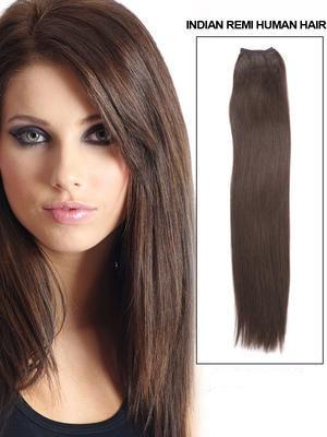45Cm Extension Longue Lisse De Cheveux Naturels