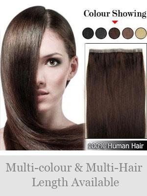 50Cm Pu Extensions Lisse De Cheveux Naturels