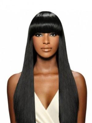 Perruque Longue Capless De Cheveux Naturels En Vogue