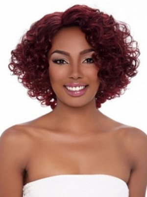 Perruque Afro-Américaine Frisée Sans Frange