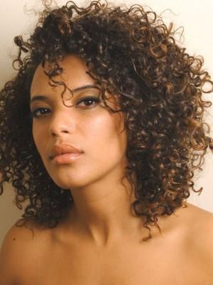 Perruque Jolie Frisée Lace Front Cheveux Naturels