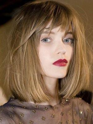 Perruque Elégante Lisse Lace Front Cheveux Naturels