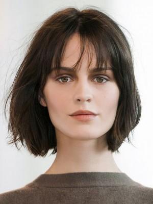 Perruque Charmante Lisse Lace Front Cheveux Naturels