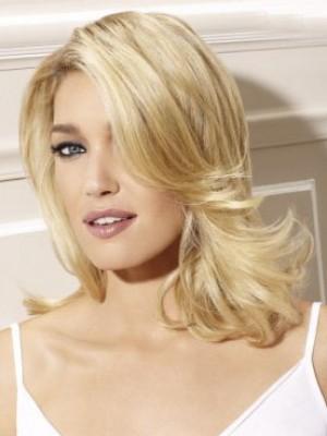 Perruque Séduisante Ondulée Lace Front Cheveux Naturels