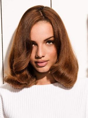 Perruque Mignonne Ondulée Lace Front Cheveux Naturels