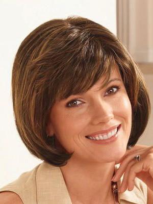 Perruque A La Mode Lisse Capless Avec Frange Cheveux Naturels