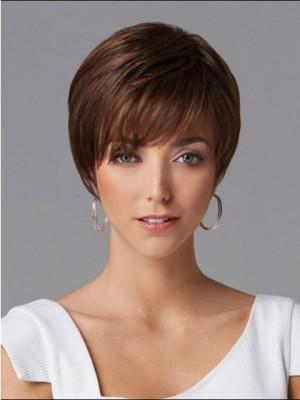 Perruque Chic Courte Lisse De Cheveux Naturels