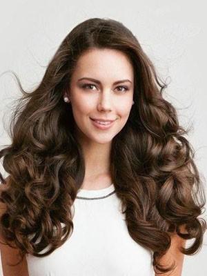 Perruque Cheveux Naturels Longue Full Lace Ondulée Minutieuse