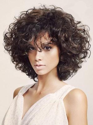 Perruque Cheveux Naturels Courte Capless Ondulée Chic