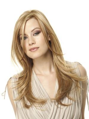 Perruque Lace Longue Lisse De Cheveux Naturels