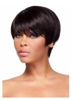 Perruque Lisse Cheveux Naturels Afro-Américaine