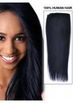 40Cm Extension Lisse De Cheveux Naturels Avec Clips