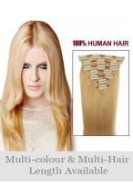 45Cm Extension Lisse Longue De Cheveux Naturels Avec Clips