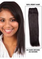 35Cm Tissage Charmant Lisse De Cheveux Indiens