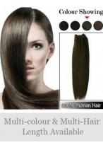 Extensions Lisses À Pleine-Tête De Cheveux Naturels