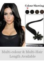 45Cm Ongles Extensions Gracieuses De Cheveux Naturels