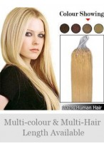45Cm Micro Loop Extensions Lisses De Cheveux Naturels