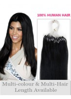56Cm Micro Loop Extensions De Cheveux Naturels