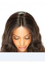 Closure Part Centrale Naturelle Noire Cheveux Humains Bouclée Lace