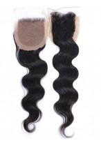Closure Parfaite Cheveux Humains Part Libre Ondulée Naturelle Noire Lace